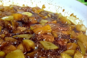 Traditional Irish Shortbread with Drunken Apple Compote
