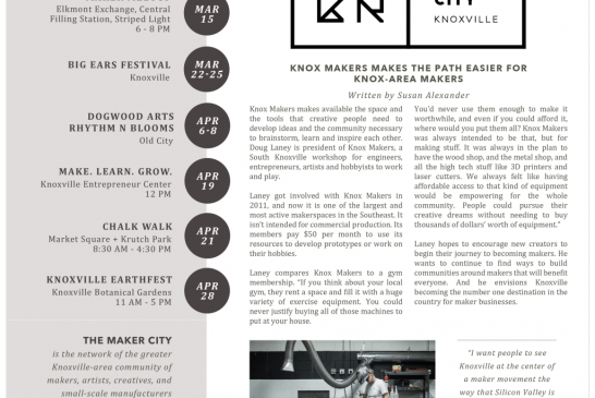 Knox Makers present an easy path for creatives of all kinds