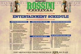 17th Annual Rossini Festival International Street Fair to be held on Saturday, April 14, 2018, 10am – 9pm in Downtown Knoxville