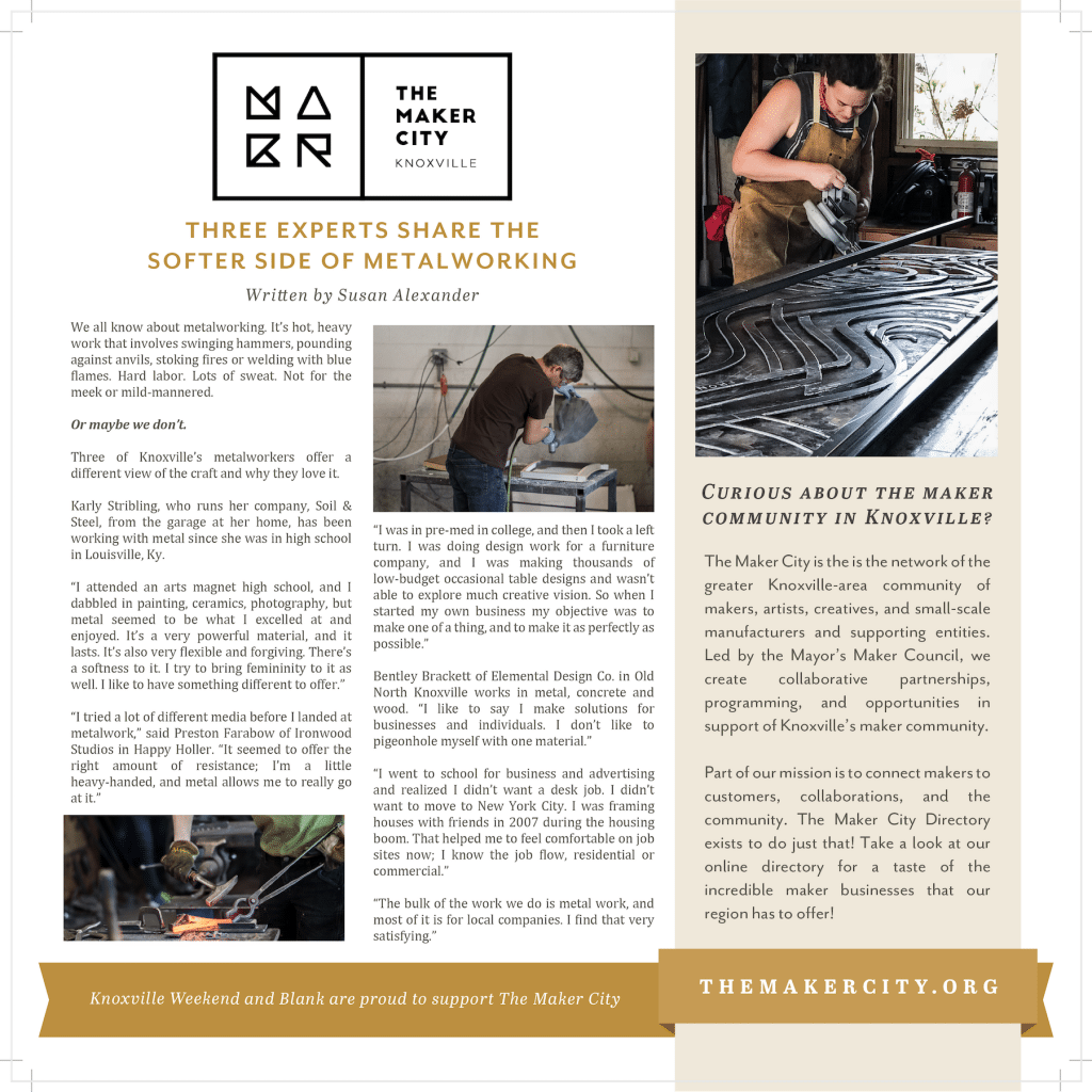 The Maker City – The Softer Side of Metalworking | Blank Newspaper