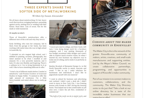 The Maker City – The Softer Side of Metalworking