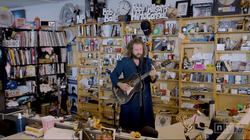 Jim James (Yimothy Yames) plays NPR's Tiny Desk and drops new song